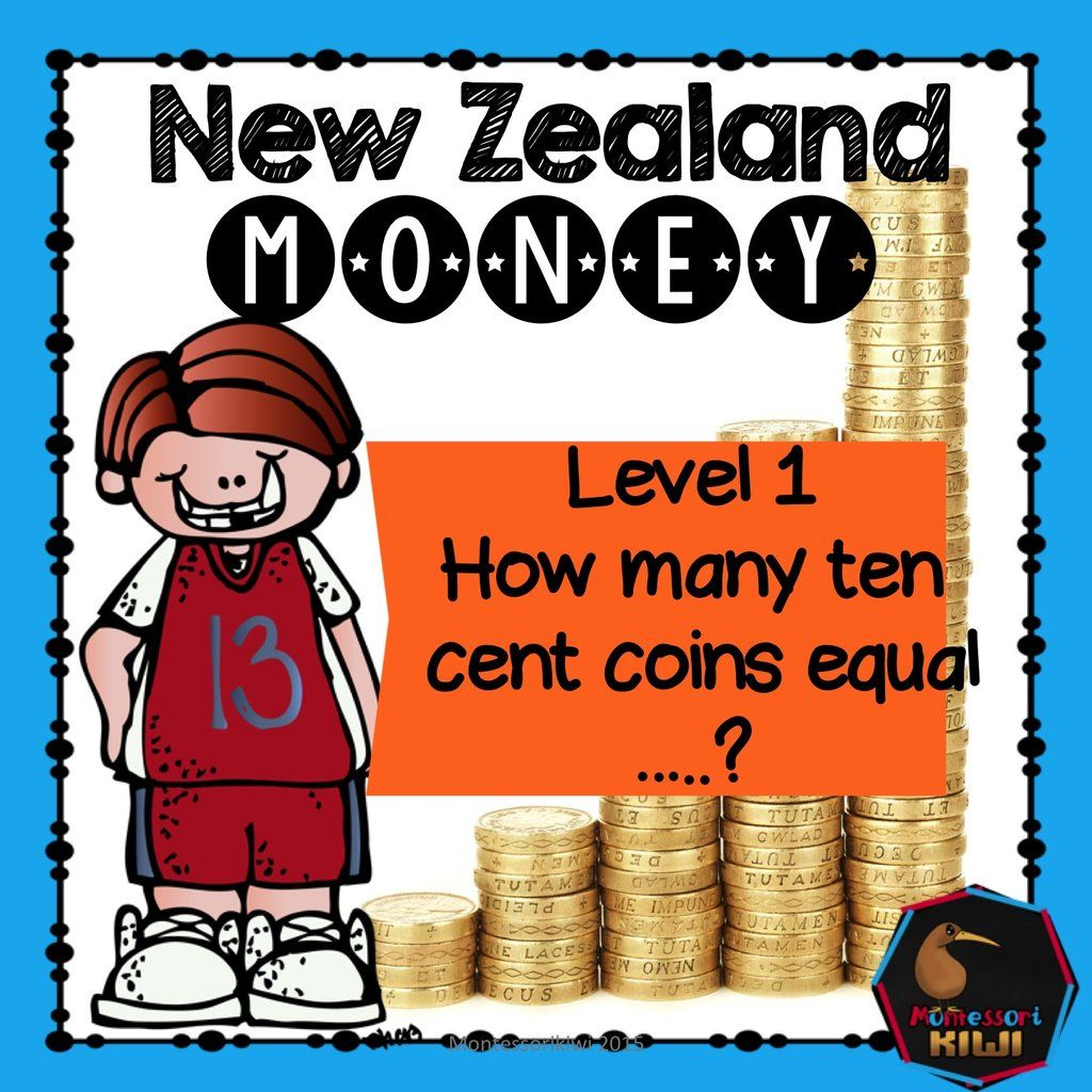 New Zealand Money Level 1 How Many 10 Cent Coins Equal