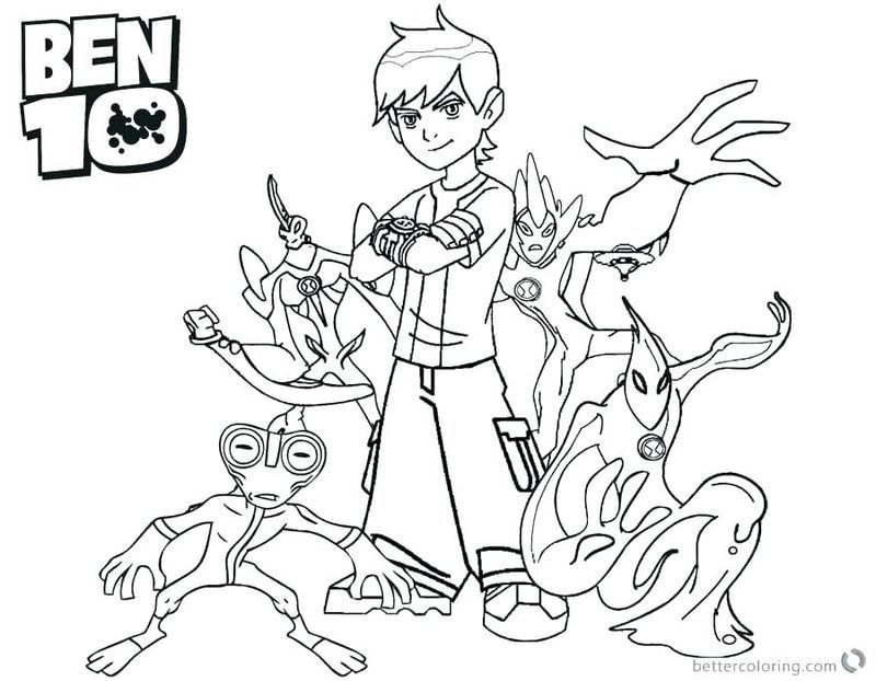 Overflow Ben 10 Coloring Page In 2020 Ninjago Coloring Pages Coloring Pages Cool Coloring Pages