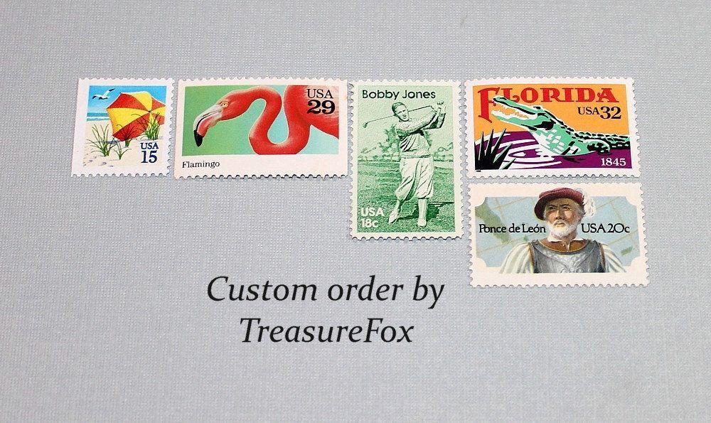 Reserved Custom Order For Pardo Unused Vintage Us Postage