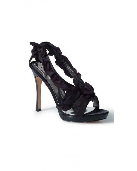 Drooling!!!  MISCHKA Black Ruffle IDEN Strappy Platform Heels Sandals, Stylebug.com d