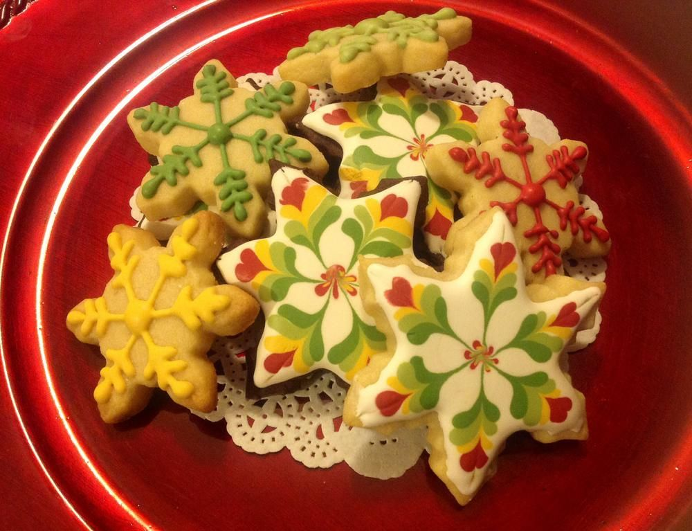 Marbled/ Wet on Wet/Christmas cookies | Cookie Connection