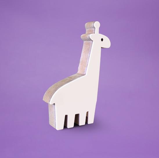 Adorno Acrílico Girafa Branca
