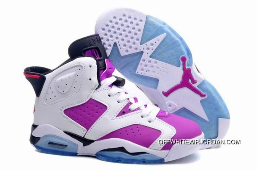 """low priced 41787 a3e3c Air Jordan 6 (VI) Retro GS """"Floral Print"""" Pink White Girls Size For Sale,  Price   89.00 - Nike Rift Shoes"""