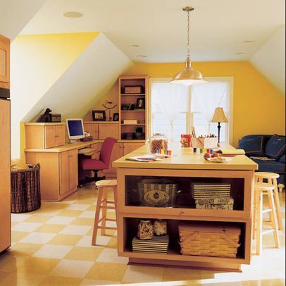 Room above garage minneapolis laundry sloped ceiling for Above garage bonus room ideas