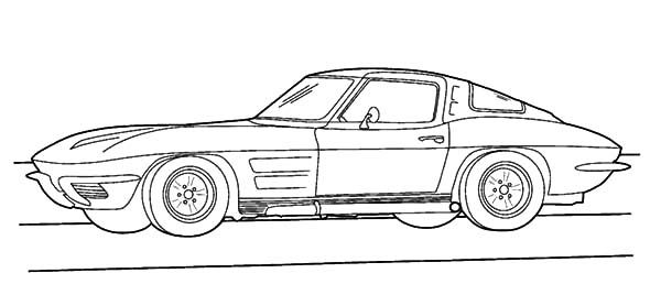 corvette stingray coloring sheets