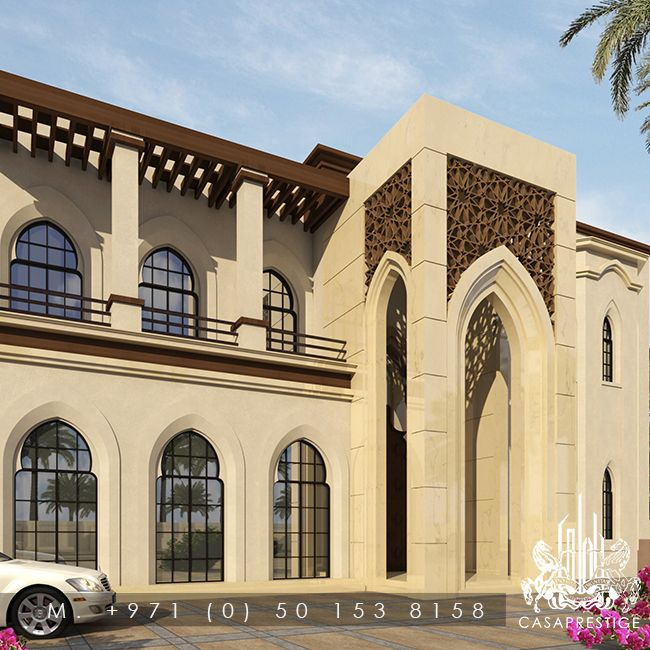 Luxury exterior outdoor arabic design in dubai uae for Modern house uae