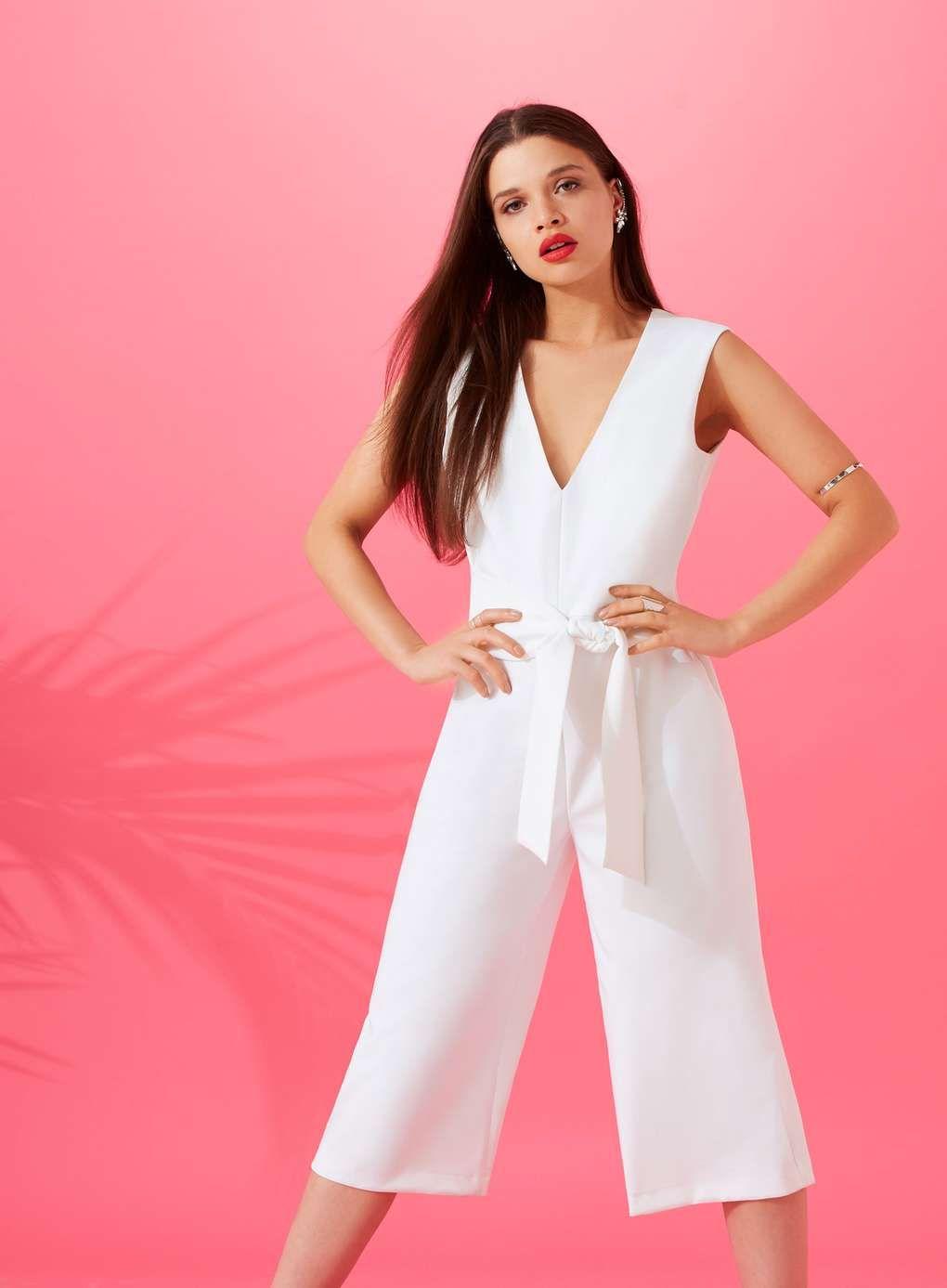 PETITE Culotte Tie Jumpsuit | Summer shop | Pinterest