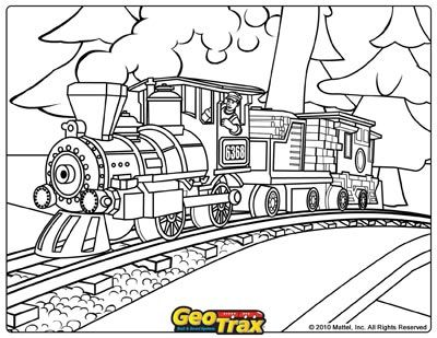 polar express coloring pages 02 - Polar Express Train Coloring Page