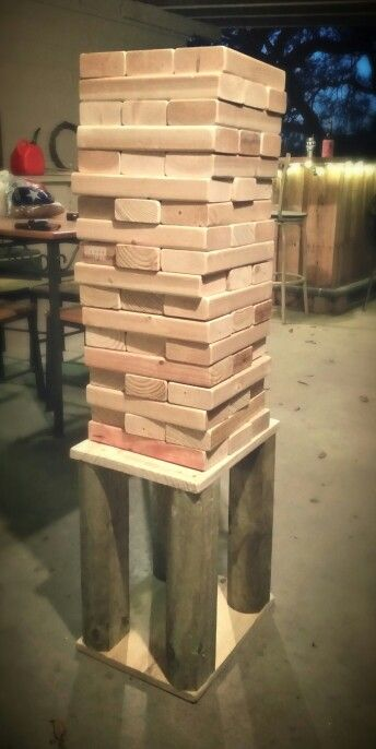 Giant Jenga set 54 10.5 inch blocks and custom table great ...