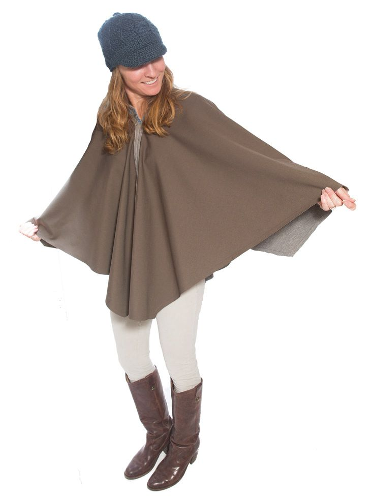 How To Sew A Simple Poncho Sewing Things Pinterest