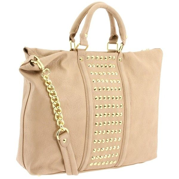 Steve Madden Studded Tote ($98) found on Polyvore