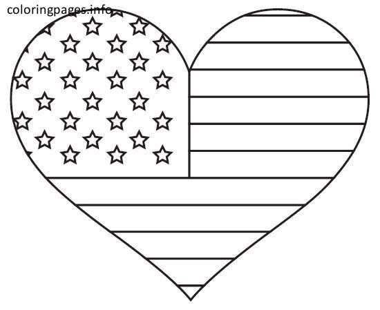 American Flag Coloring Page American Flag Coloring Page Coloringpages Coloring Colorin Heart Coloring Pages Flag Coloring Pages American Flag Coloring Page