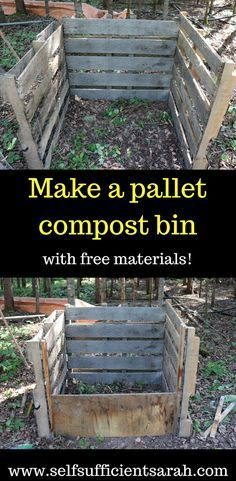 Pallet compost bin - Self Sufficient Sarah