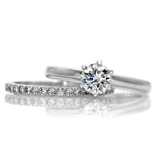 petite wedding ring set simple yet beautiful - Simple Wedding Ring Sets