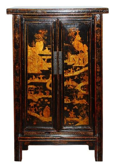 Antique Chinese Gilt Wedding Cabinet For Sale | Antiques.com ...