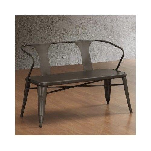 Vintage Metal Bench Steel Furniture