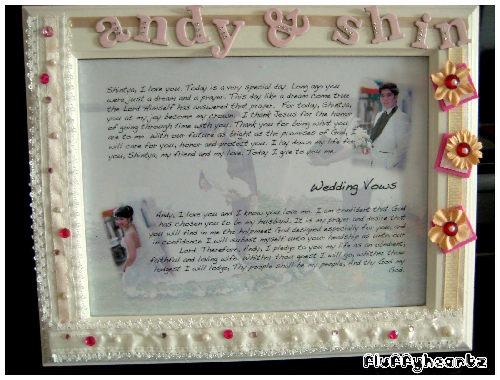 cute idea wedding vows framed | Inspiring Ideas | Pinterest
