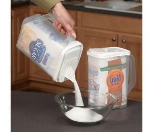 Gentil Airtight Flour Sugar Storage Containers  Bulk Food Cereal Pasta Rice Dual Pour