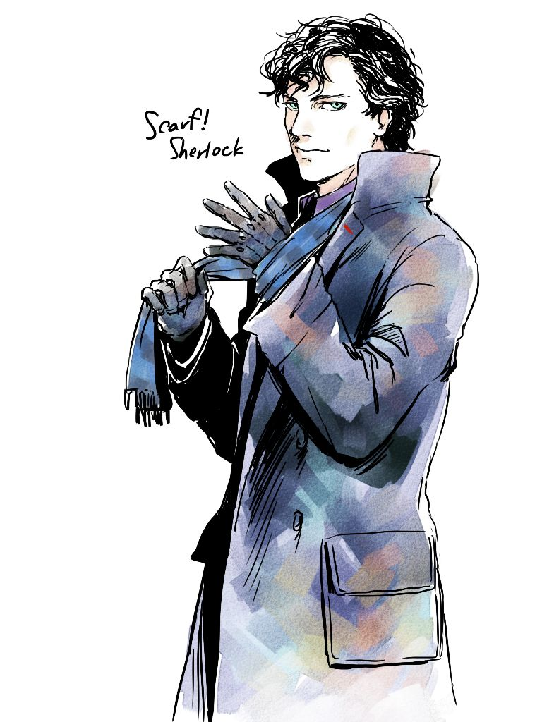 Log in Sherlock art, Anime, Art