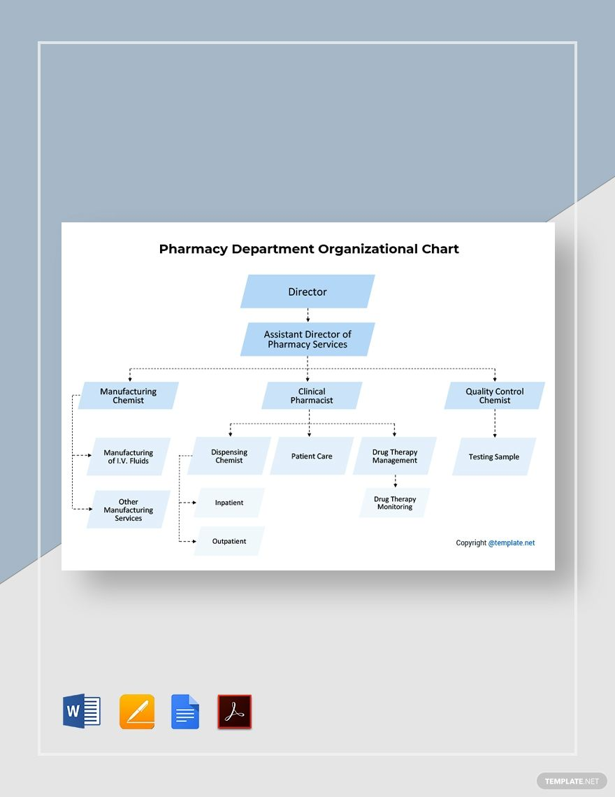Free Pharmacy Department Organizational Chart Template In 2020 Organizational Chart Pharmacy Responsive Website Template
