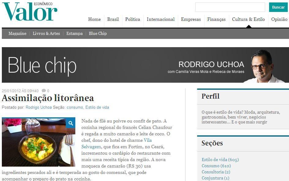 Título: Assimilação litorânea  Veículo: Valor Econômico  Data: 25/ Jan/ 2012  Cliente: E group