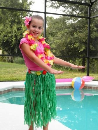Custom Sort Of Grass Skirt Kid Parties Luau Costume