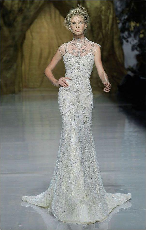 Ovias Silver Beaded Wedding Dress Mine Forever