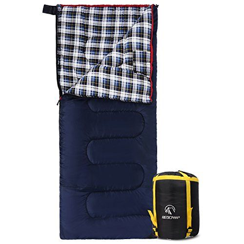 Flannel Compact Sleeping Bag for Ca REDCAMP Cotton Lined Sleeping Bag for Adult