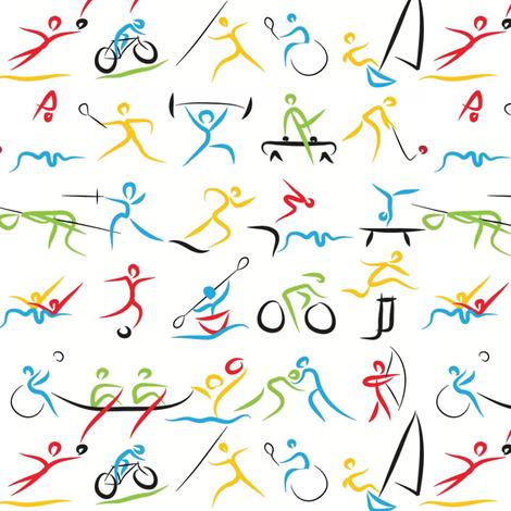 Sporting strokes fabric by ebygomm on Spoonflower - custom fabric