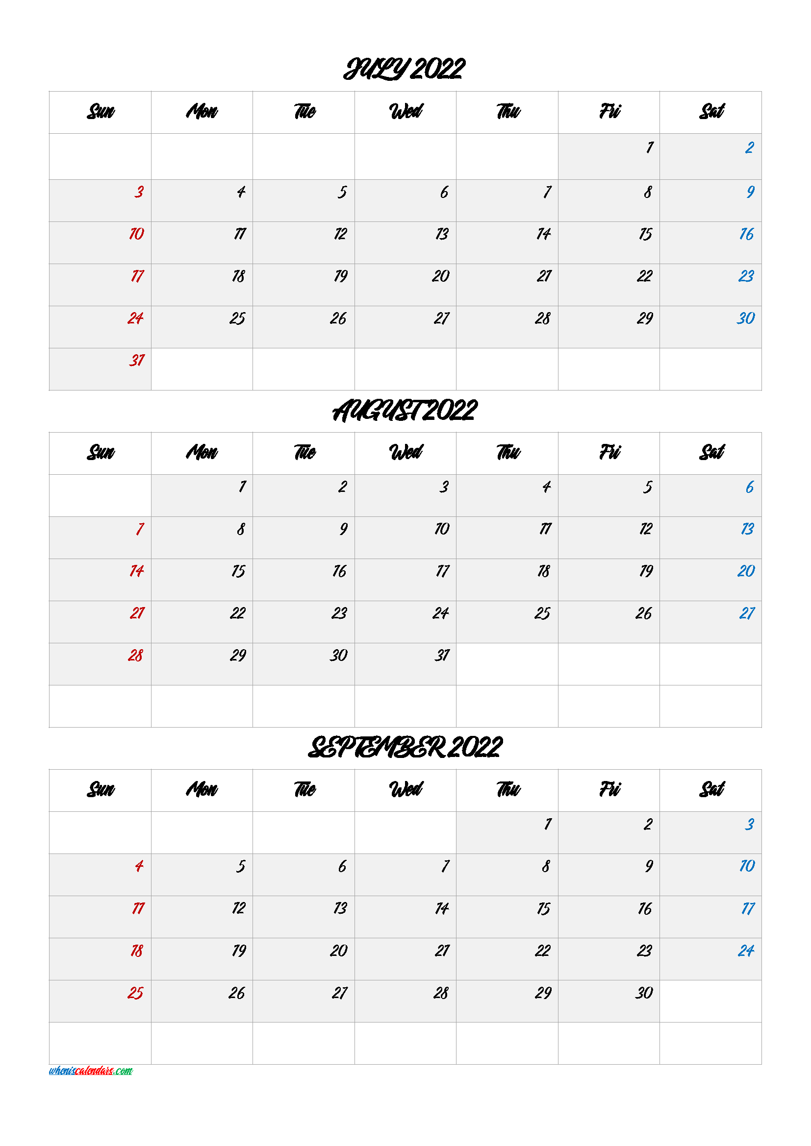 July August September 2022 Calendar.July August September 2022 Calendar Printable Free Q1 Q2 Q3 Q4 Printable Calendar July Calendar Printables Calendar Template