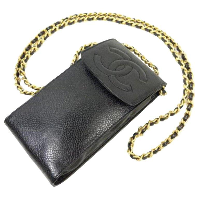 promo code b8d9c a3227 Chanel Chain (Ultra Rare) Cc Logo Caviar Mobile Phone Case Wallet On ...