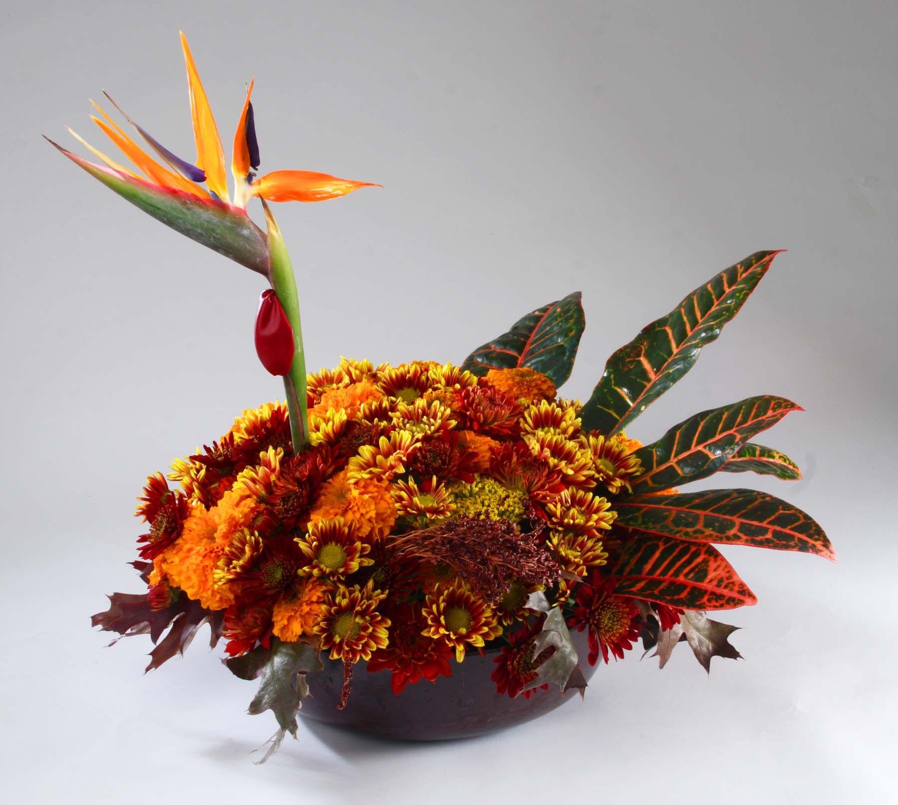 Floral turkey centerpiece by