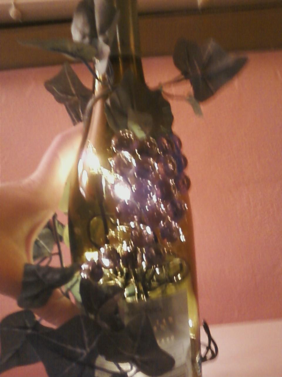 Wine glass light, Tanner's grandma's idea :)