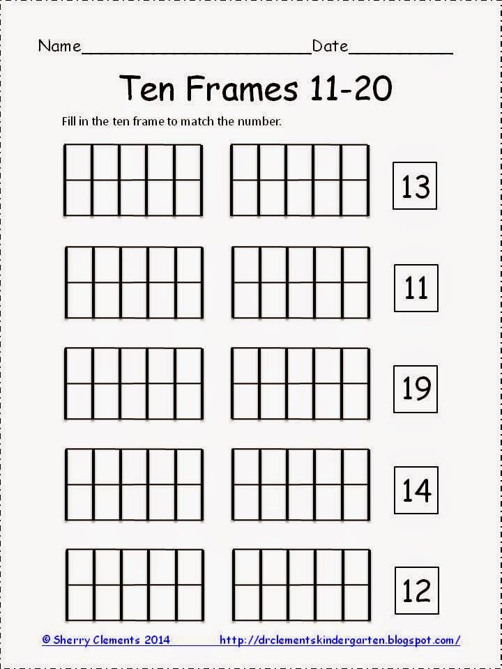 Educents Launch Freebie 50 Credit Kindergarten Math Free Ten Frame Common Core Math Kindergarten