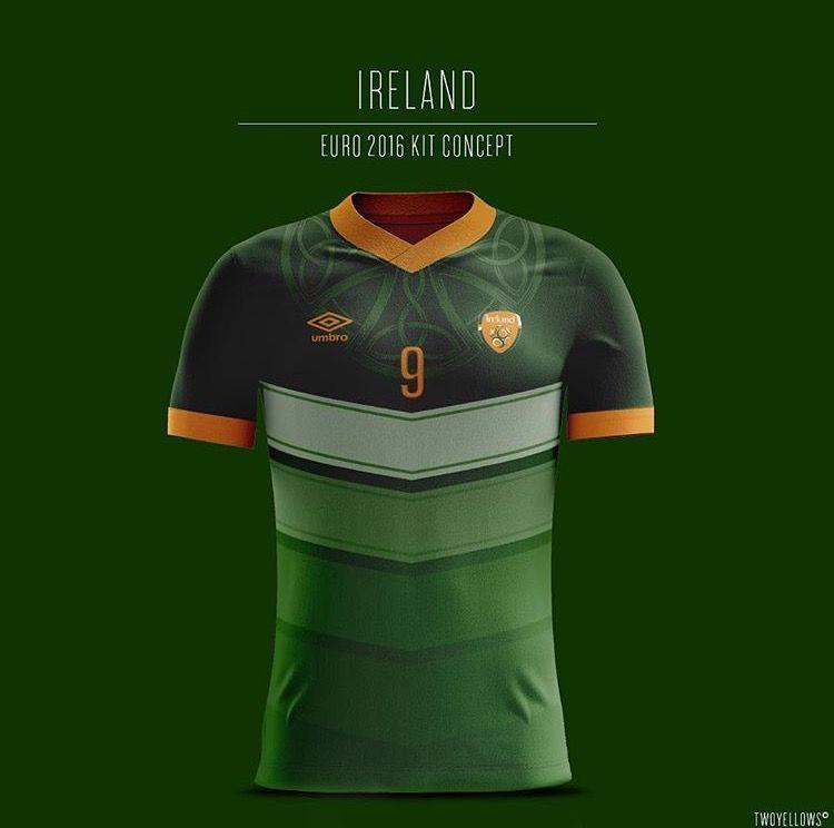 Ireland Euro 2016 Away Concept Kit Camisas De Futebol Camisa De Futebol Camisas De Futebol Femininas