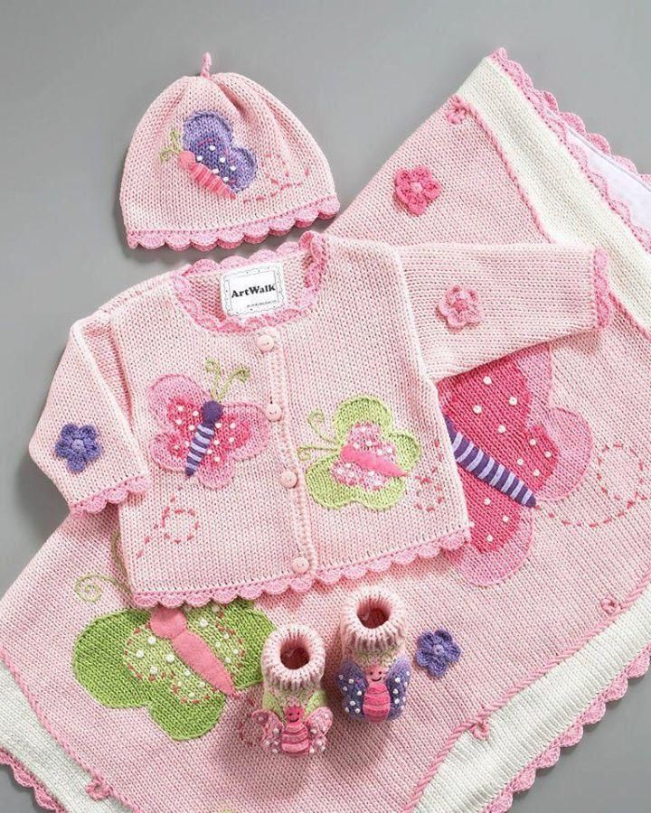 Knitted baby dress, vest, cardigan, sweater, overalls patterns