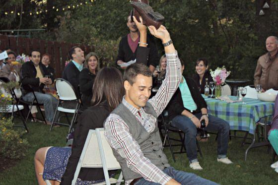 Backyard DIY Engagment Party