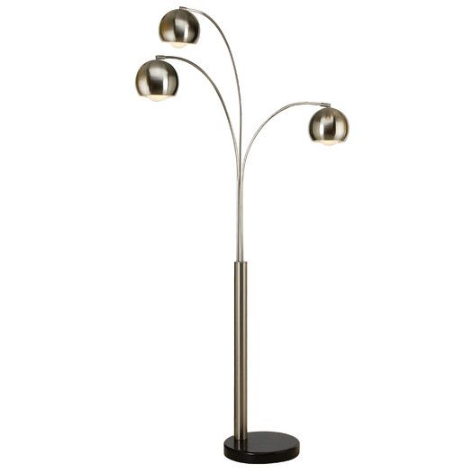 Trend Lighting Corp Triad 3 Light Arc Floor Lamp Floor Lamp Arc Floor Lamps Lamp