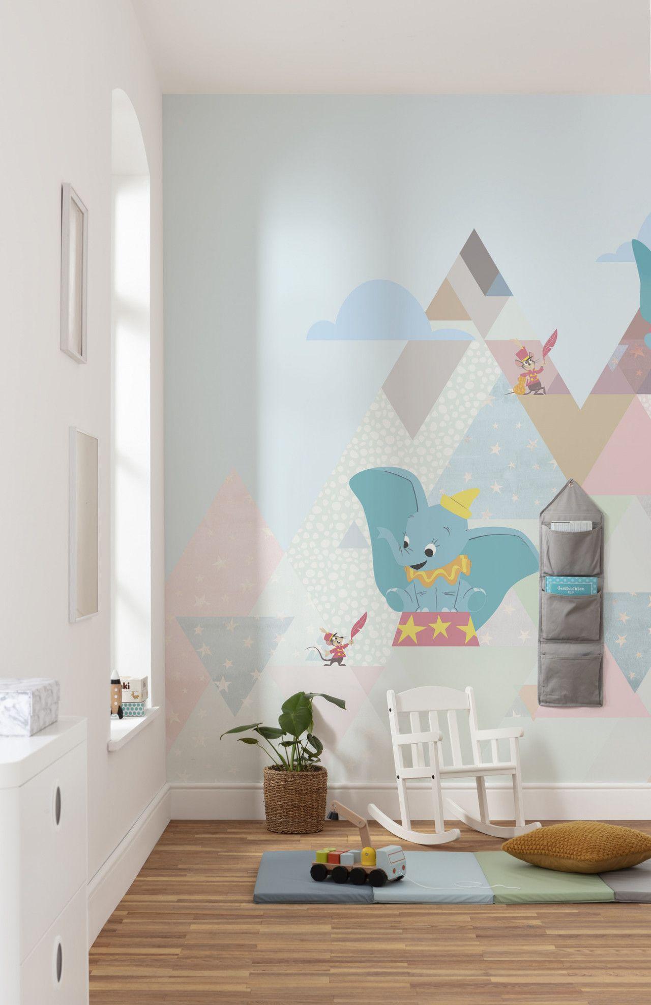 Digitaldrucktapete Dumbo Flying Elephant Kinderzimmer Tapete