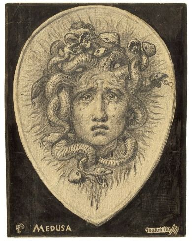 Elihu Vedder, Medusa (1867)