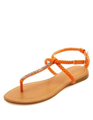 b9854ce2a00 braided   bejeweled t-strap thong sandals