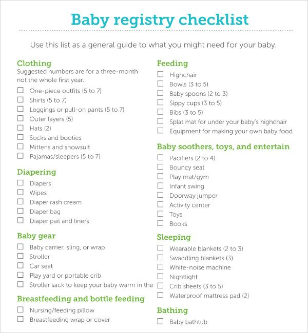 Sample Baby Shower Checklist Template Registry Doents In Pdf Excel