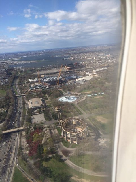 Flushing meadows from the plane