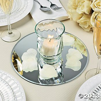 Round Table Mirrors Add Some Reflection To Your Centerpieces Ideal For Candles And Collectible