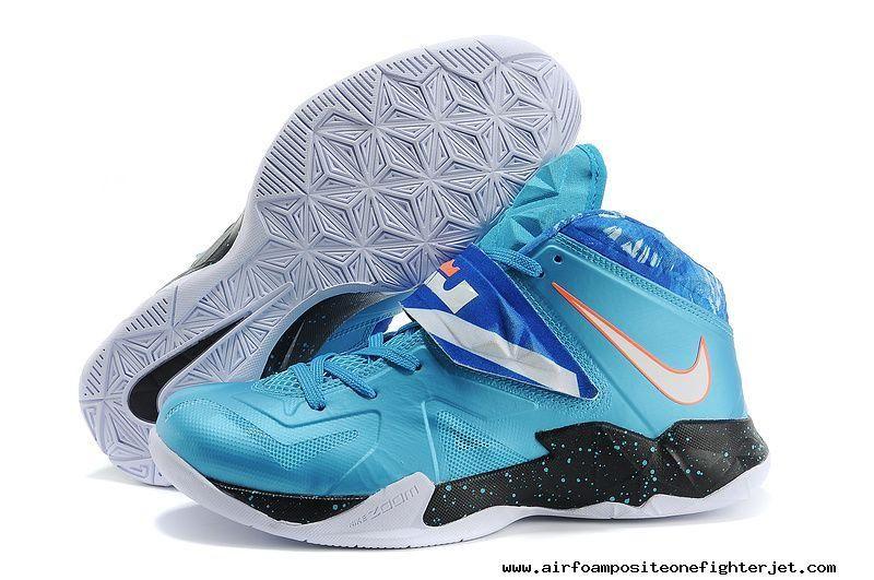 outlet store ddd3e 13fb8 Nike Lebron Zoom Soldier VII Blue Orange Galaxy 599264-403