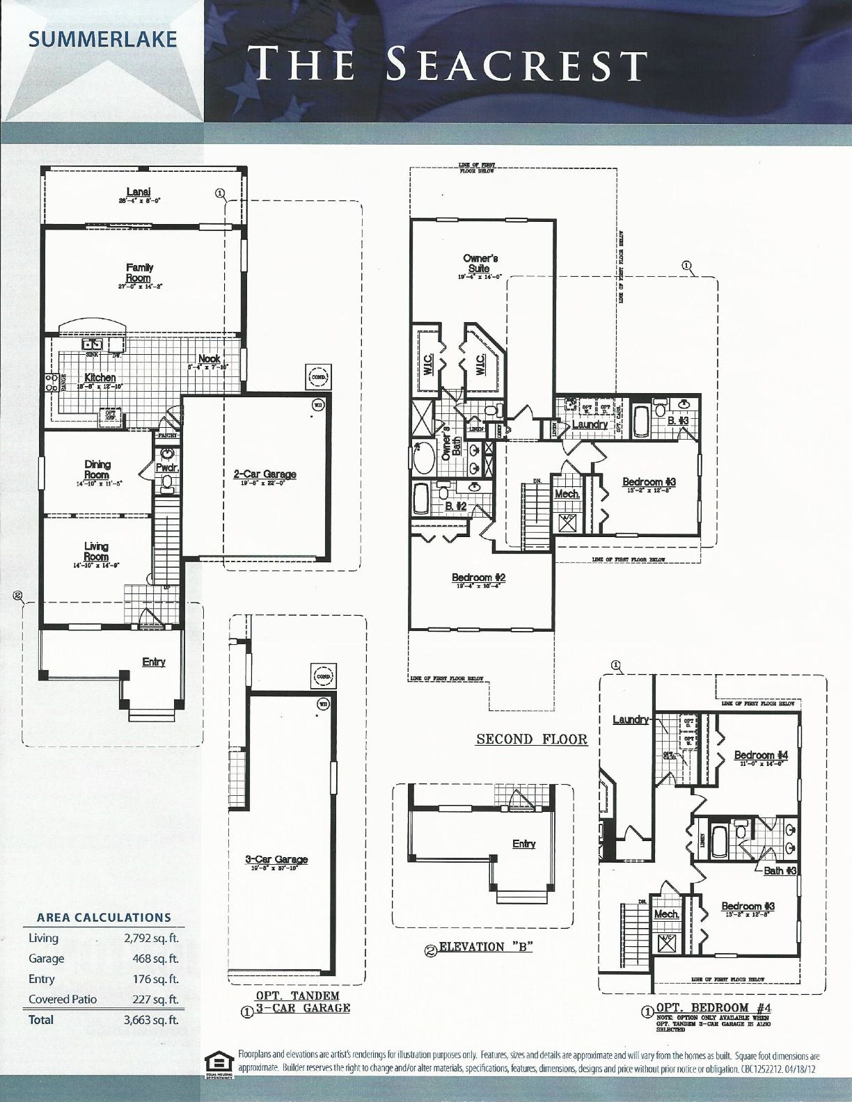 Summerlake dr horton homes seacrest floor plan in winter for Summerlake house plan