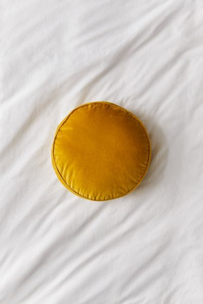 Stella Round Velvet Throw Pillow