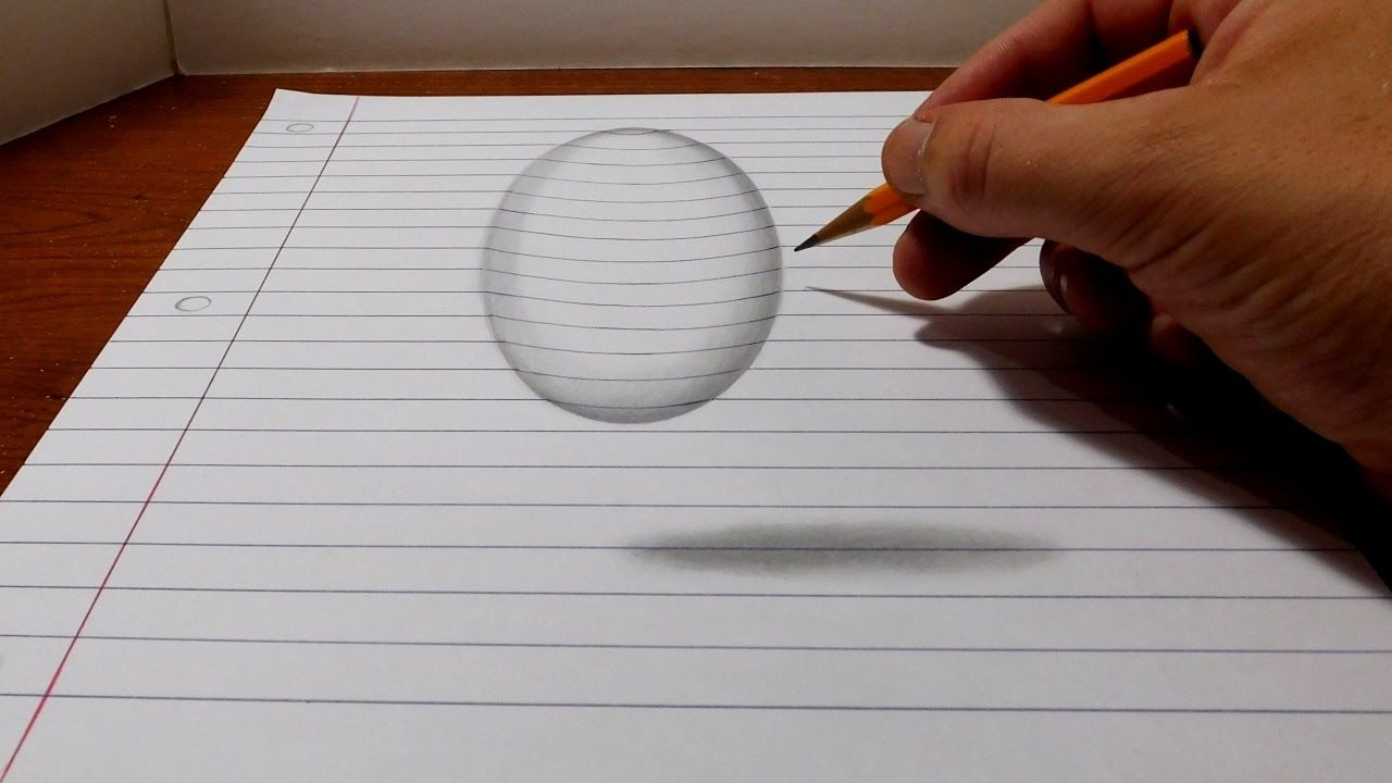 How to draw a levitating ball easy 3d trick art