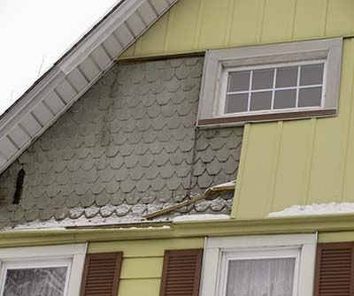 Vinyl Vs Wood Siding On Your House Fish Scale Shingles Were Hidden In Favor Of Plastic
