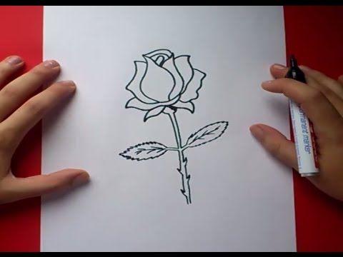 Como Dibujar Una Rosa Paso A Paso 3 How To Draw A Rose 3 Youtube Dibujo De Rosa Facil Como Dibujar Rosas Dibujos De Rosas